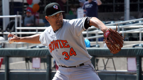 Eddie Gamboa had a 3.33 ERA in 23 appearances with Bowie in 2012.