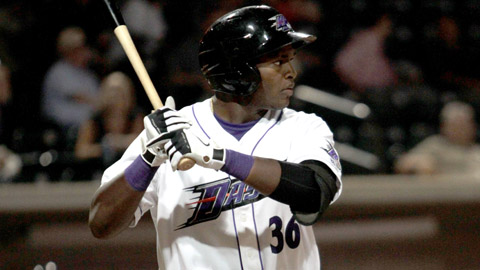 Courtney Hawkins is slugging .537 in 27 games for the Dash this year.