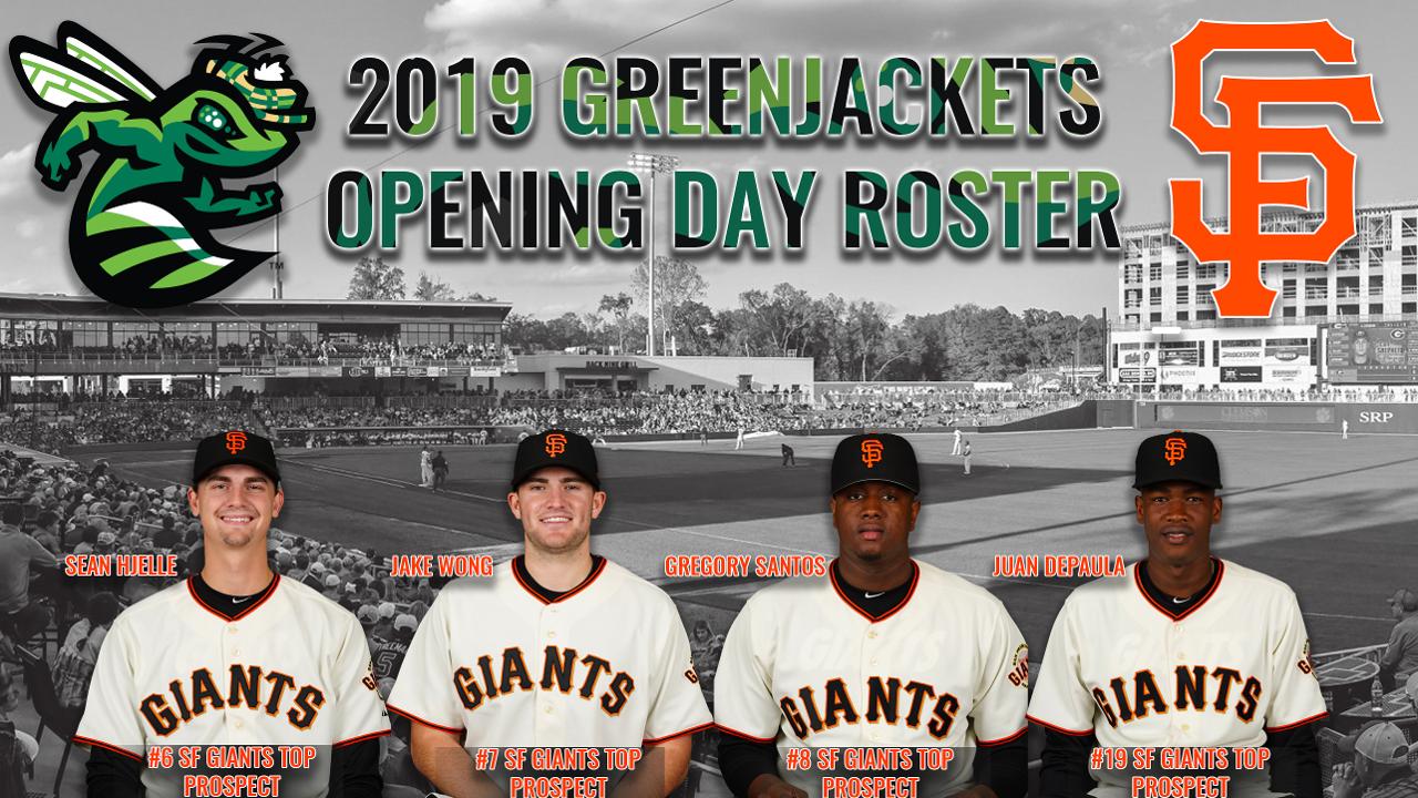 Greenjackets Giants Release 2019 Roster Augusta Greenjackets News