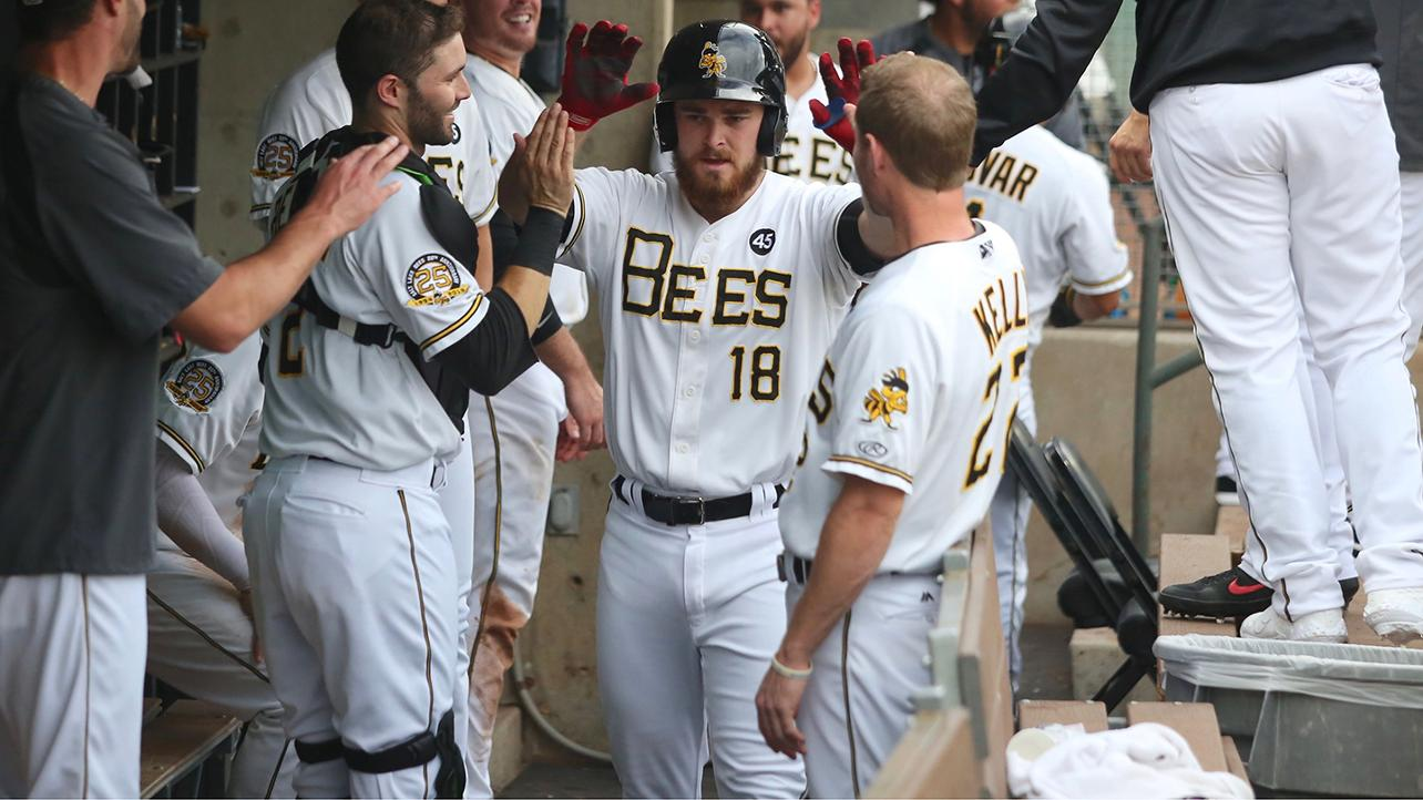 Walsh nets hat trick on Bees' record-setting night
