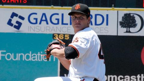 Kyle Crick has 95 strikeouts over 68 2/3 innings for the San Jose Giants.