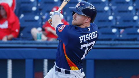 Half of Derek Fisher's eight hits for Houston this spring have gone for extra bases.
