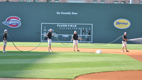 The Drive Grounds Crew is headed up by Greg Burgess and Ross Groenevelt.