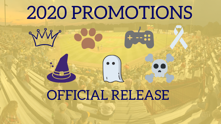 2020 Promotions and game times released