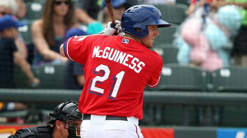 Chris McGuiness hit 23 home runs at Double-A Frisco in 2012.
