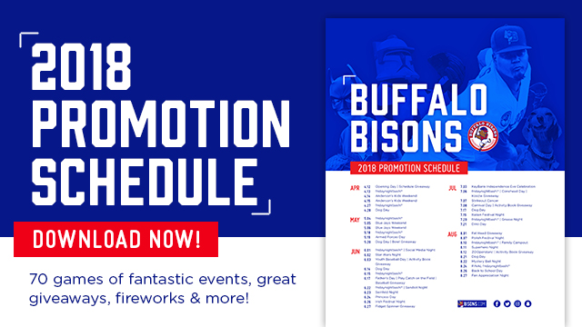 bisons announce 2018 promotional schedule buffalo bisons news