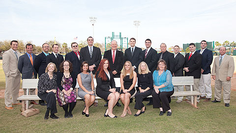 The Jacksonville Suns front office staff, which will feature six new faces entering the 2013 season.