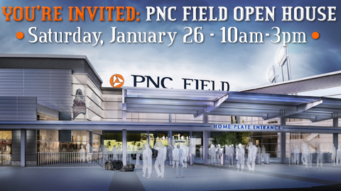 Not only will the Jan. 26 Open House allow you to see the latest and greatest on PNC Field's progress, but also the chance to see seats in person and purchase them on the spot.