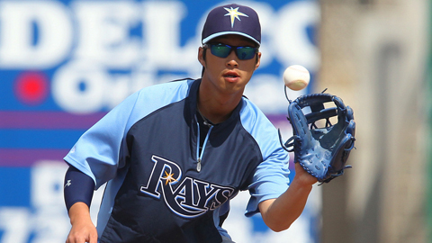 Hak-Ju Lee ranks third in the International League with a .422 average.