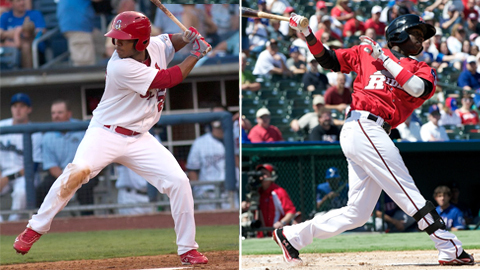 Oscar Taveras and Jurickson Profar combined for 37 homers and 156 RBIs in 2012.