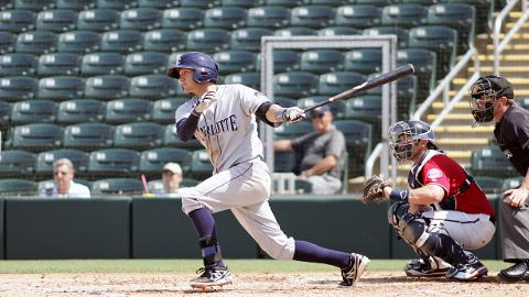 Jake Hager extends his hitting streak to 6 games going 2 for 4 with a triple and run scored in Stone Crabs loss