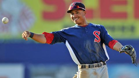Mookie Betts posted a .971 fielding percentage with Greenville and Salem last season.