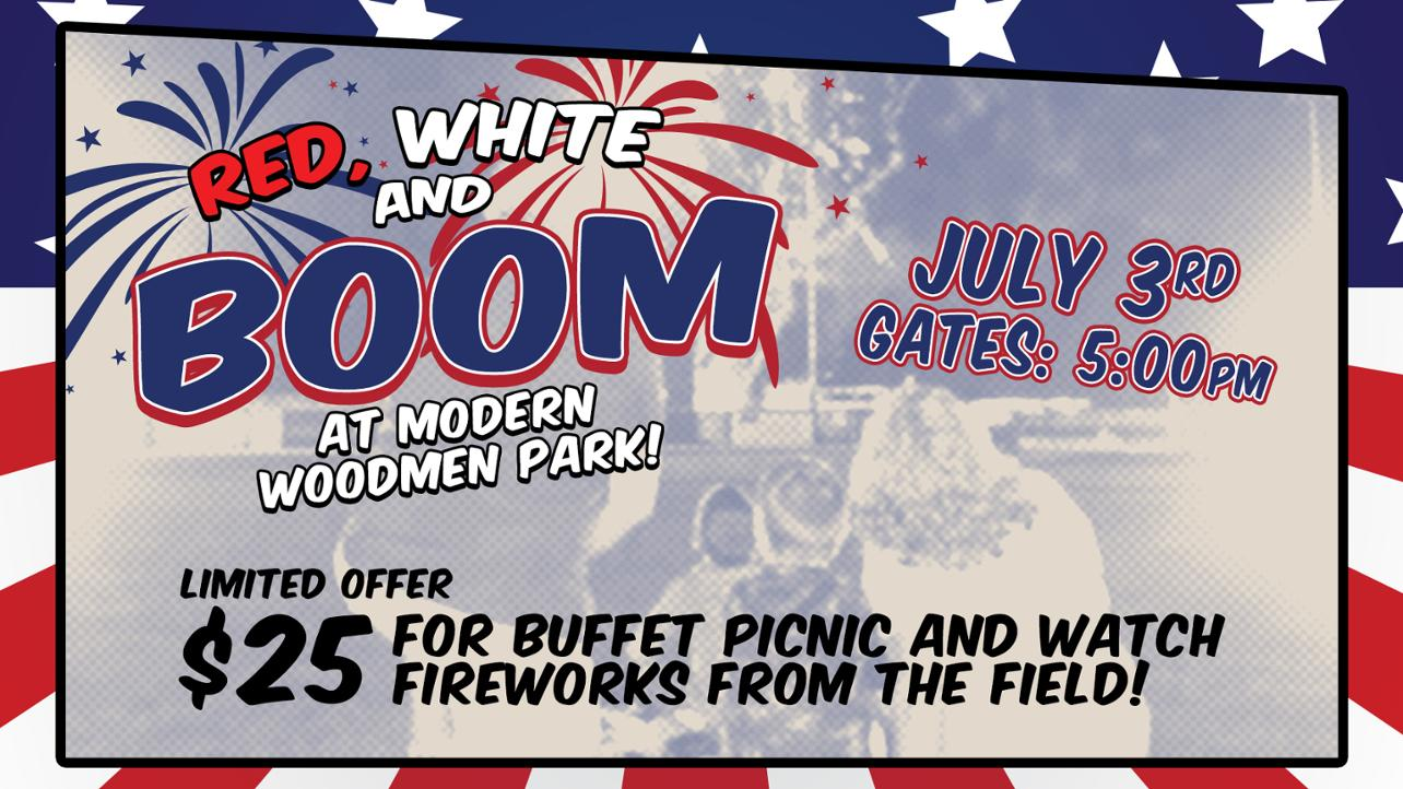 Bandits Hosting Exclusive Picnic for Red, White and Boom
