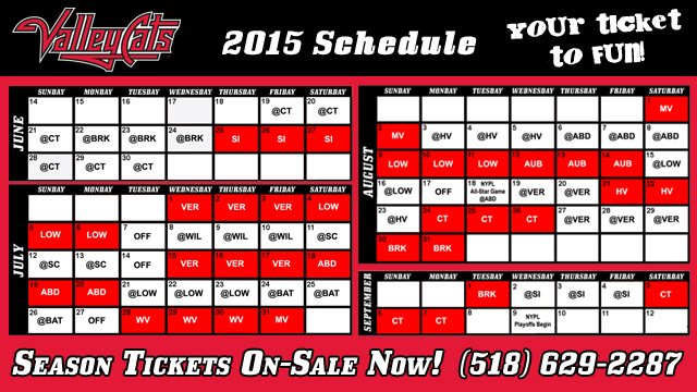 photo relating to Indians Schedule Printable identify ValleyCats announce 2015 period routine Tri-Metropolis