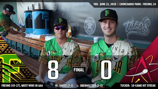 de1366e9a58 Grizzlies roar past Isotopes thanks to Cy Sneed s complete game shutout