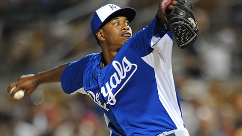 Yordano Ventura is third in the Texas League with 12 strikeouts in two starts.