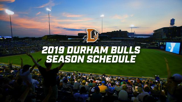 graphic relating to Bulls Schedule Printable named 2019 Durham Bulls Timetable Introduced Durham Bulls Information