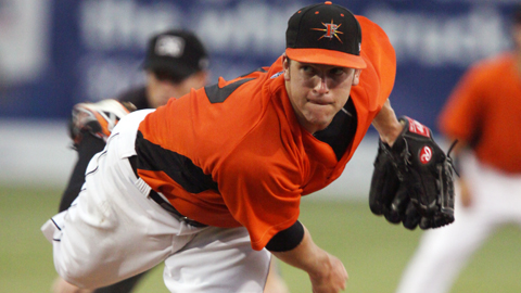 Knuckleballer Zach Clark allowed just one run Wednesday night in his best start of the season.