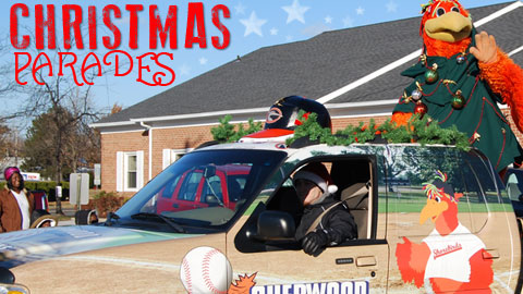 The Shorebirds will be in six different community Christmas Parades this season
