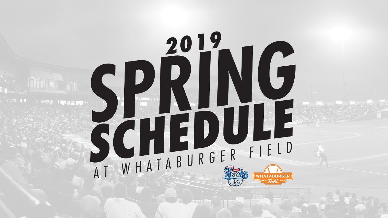 Corpus Christi Calendar Of Events 2019 Hooks Roll Out 2019 Spring Schedule | Corpus Christi Hooks News