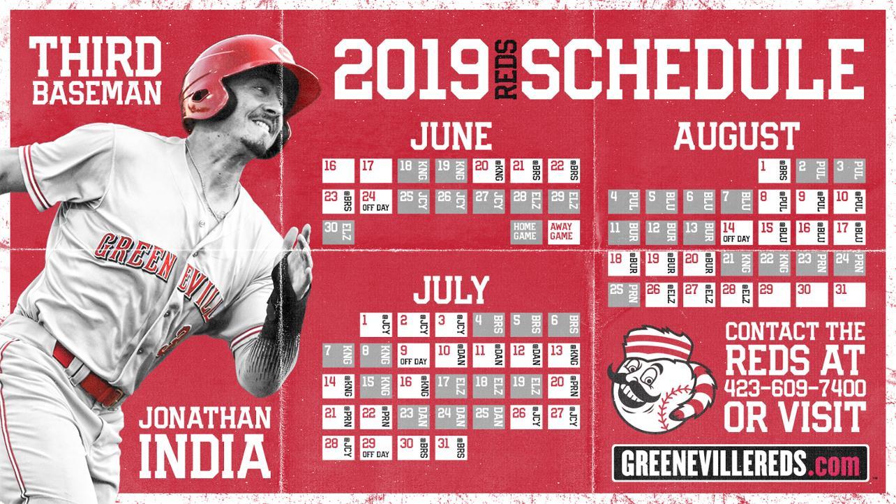 GREENEVILLE REDS ANNOUNCE 2019 SCHEDULE