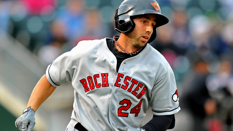 Rochester's Chris Colabello leads the IL in batting, slugging and RBIs.