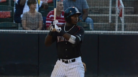 Courtney Hawkins hit .308 with four home runs and 15 RBI with Kannapolis.