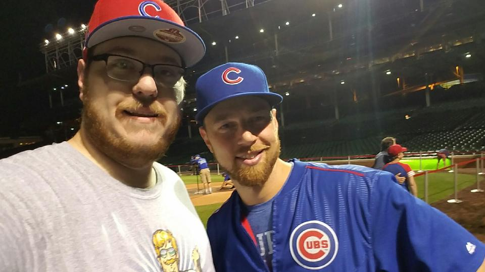 1a7dc0950 Ryan Ferry and Ben Zobrist got together for this 2016 photo at Wrigley  Field. Zobrist and Ryan s family have a friendship going back to 2005