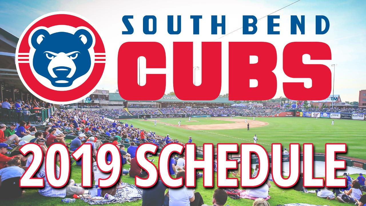 Cubs Schedule 2020 Printable.South Bend Cubs Release 2019 Schedule South Bend Cubs News