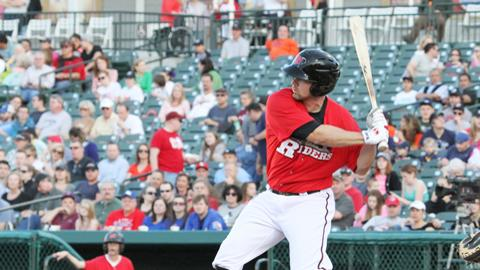 Brett Nicholas went 2-for-8, and his ninth inning solo home run sent the game to extra innings.