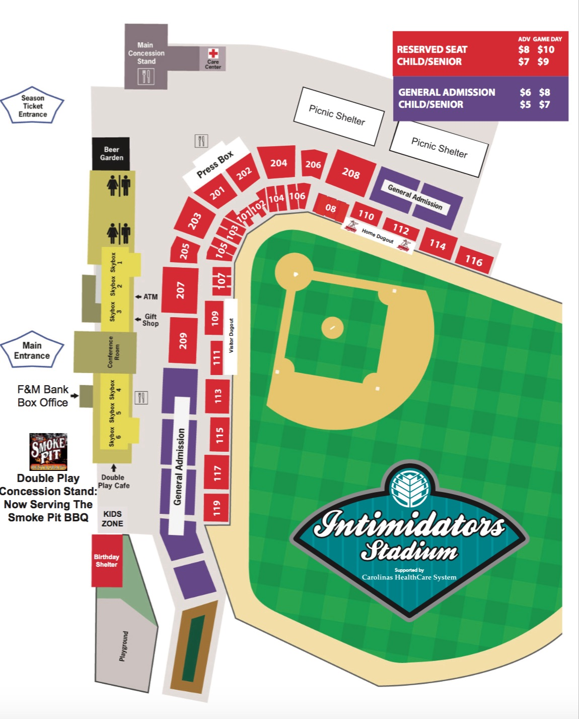 100 Dodger Stadium Seat Map