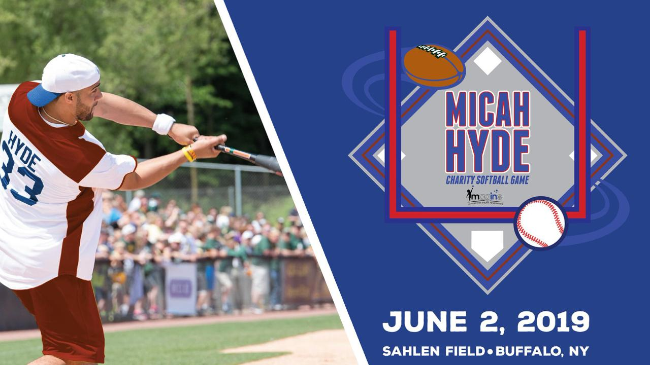 hot sale online 688a5 30c1c ON SALE NOW: Micah Hyde Charity Softball Game at Sahlen ...