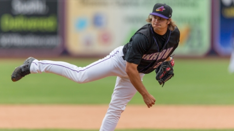 RHP Jeff Johnson joins seven other Aeros in Fall League action in Arizona. Johnson allowed only six earned runs over 21.2 IP while holding opponents to a .158 average after his promotion to Akron on July 12.