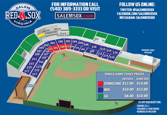 Sox Seating Chart Seating Chart Salem Red Sox Haley