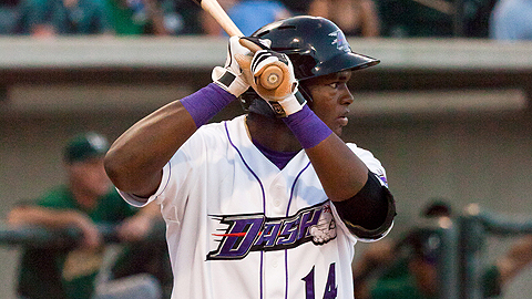 Courtney Hawkins hit eight homers in 59 games last year.