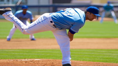 Tim Gustafson worked seven strong innings as Tulsa won its regular season finale 8-4 Monday afternoon in Springfield.