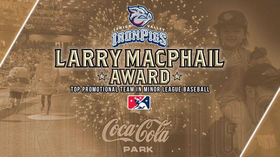 IronPigs win 2019 Larry MacPhail Award
