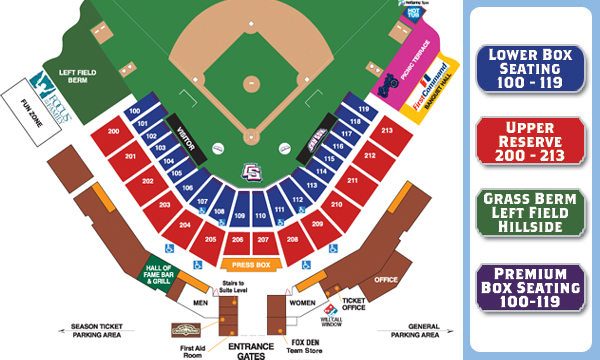 Seating chart and box office info colorado springs sky sox