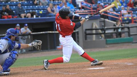 Brevard County Manatees catcher Cameron Garfield was named the Florida State League Player of the Week for the period of April 15-21. He hit .310 with four home runs and seven RBI in those seven games.