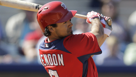 Anthony Rendon ranks sixth in the Eastern League with a .462 OBP.
