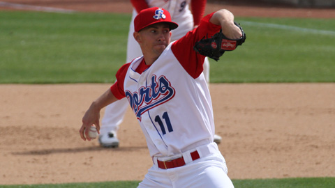 Tanner Peters ranks among the Cal League leaders in wins, ERA and strikeouts.