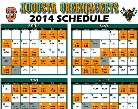 GreenJackets Release 2014 Schedule | MiLB.com