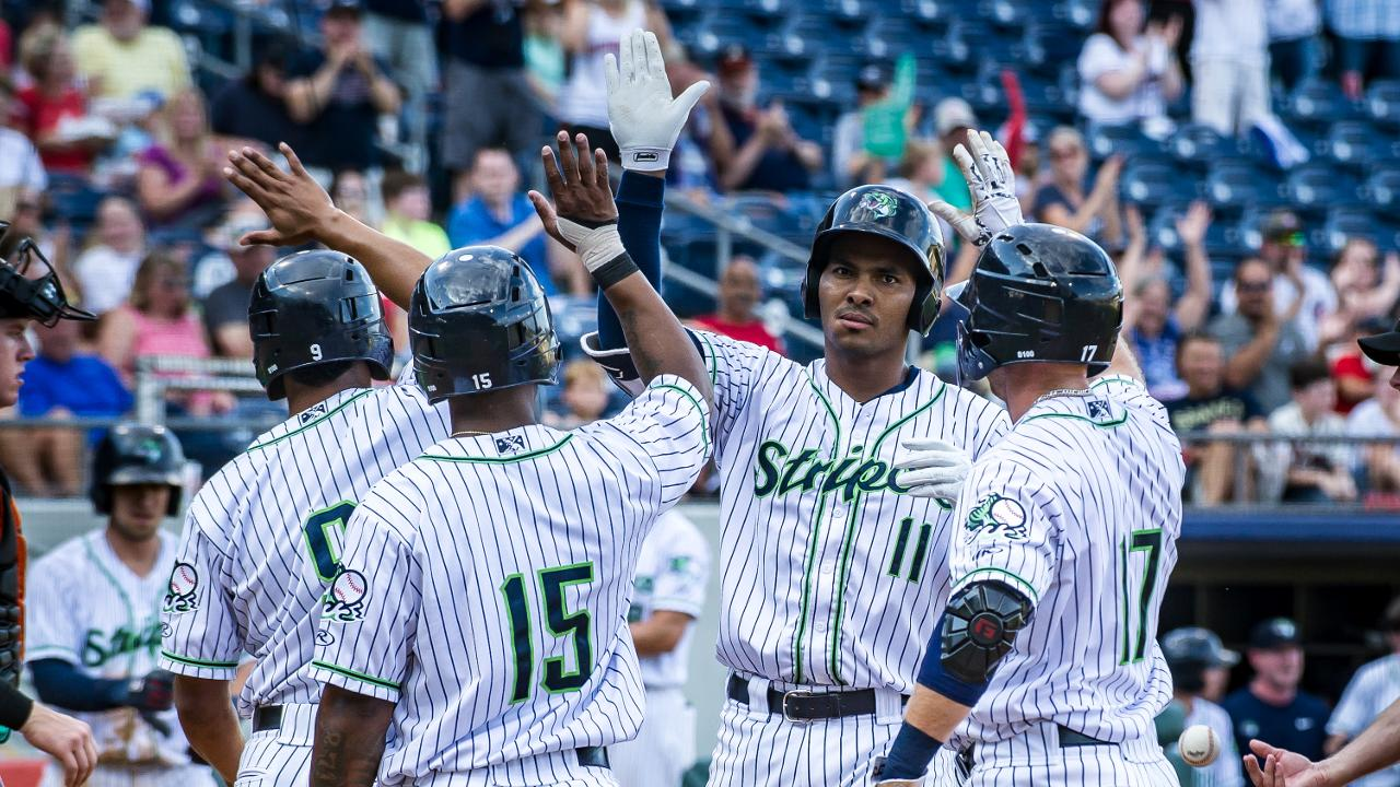 a15d2ac5 Carlos Franco led the Stripers with 16 home runs in 2018. (Will Fagan / Gwinnett  Stripers)