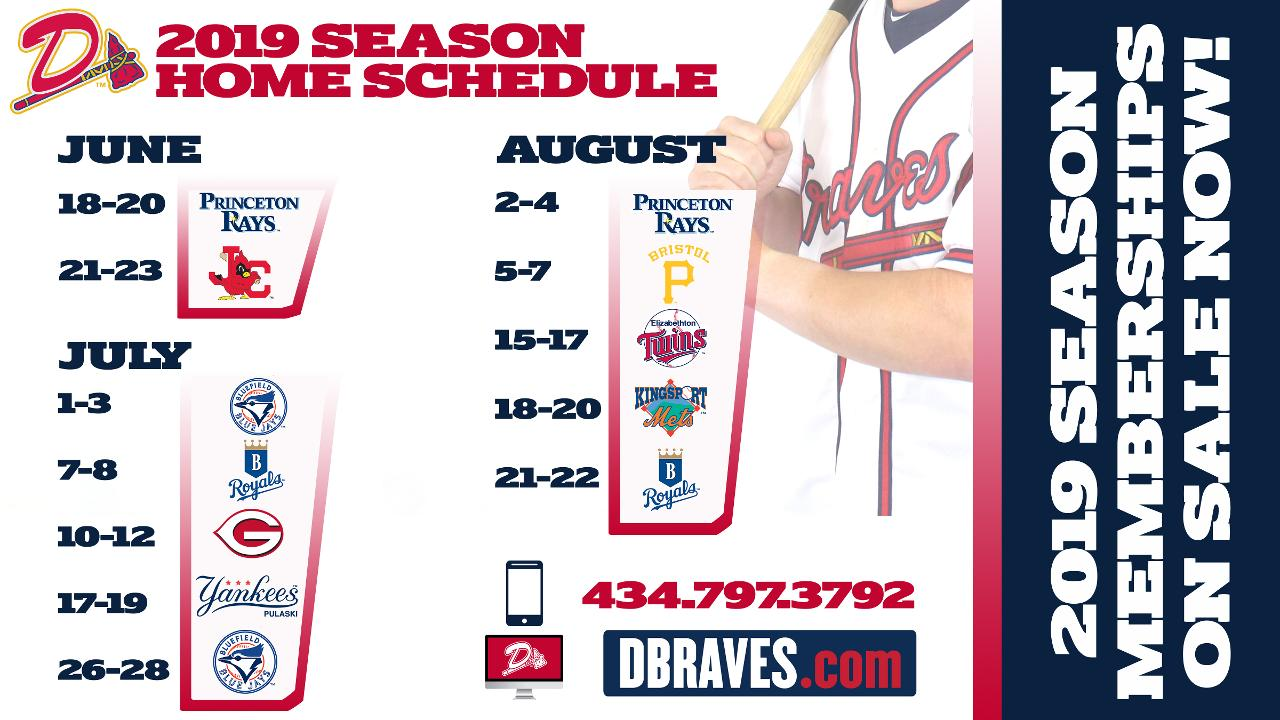 graphic regarding Braves Printable Schedule identified as D-Braves Announce 2019 Time Plan, Time Memberships