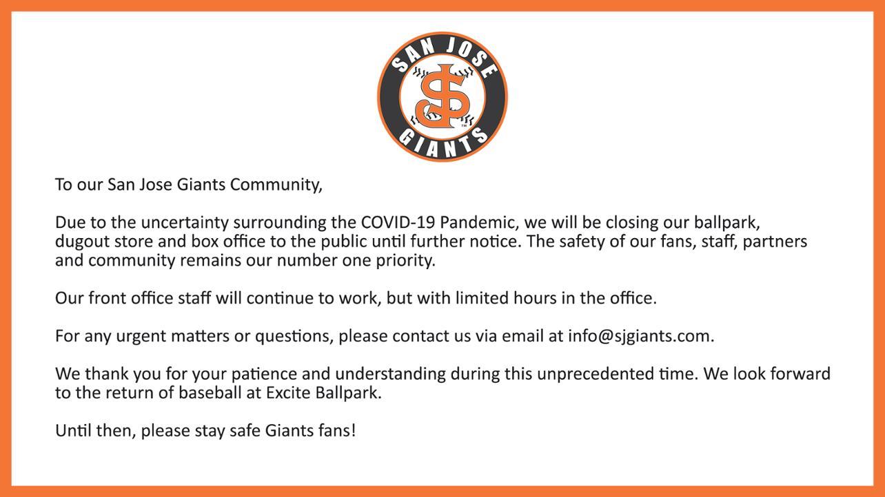 Excite Ballpark Closure