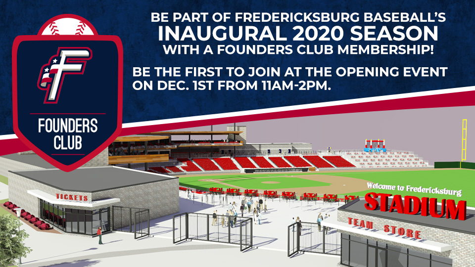 Fredericksburg Events February 2020.Fredericksburg Baseball Announces Founders Club Membership