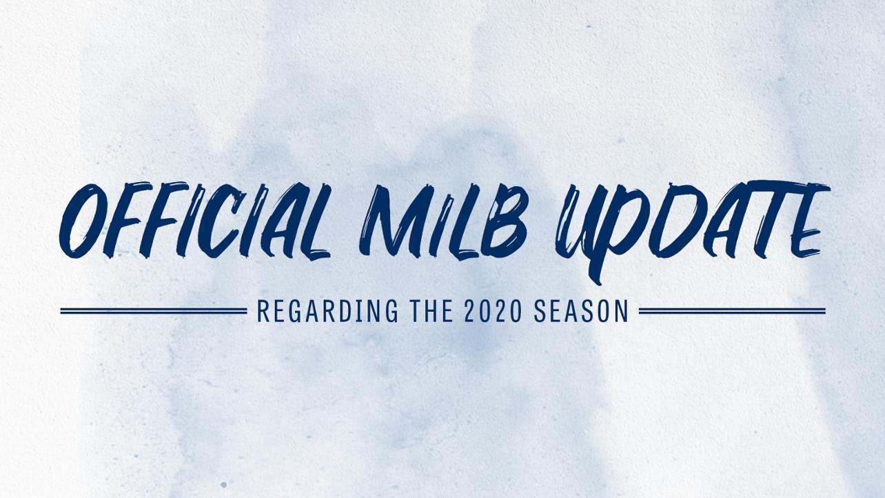 2020 MiLB Season Announcement