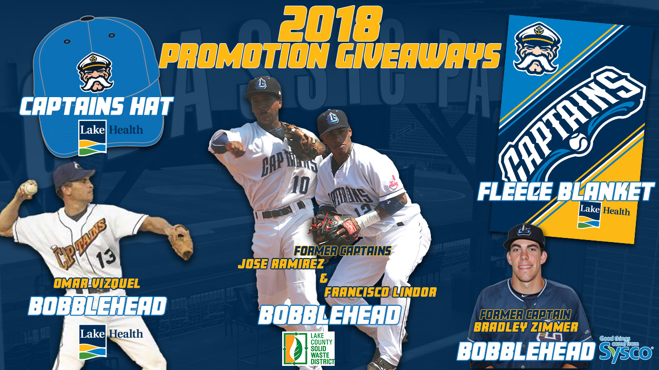 buy online f5106 3dac7 Lake County Captains Announce Giveaways and Promotions for ...