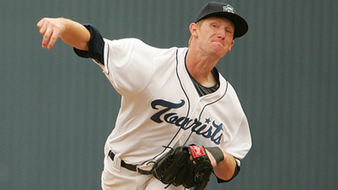 Eddie Butler is third in the South Atlantic League with 45 strikeouts.