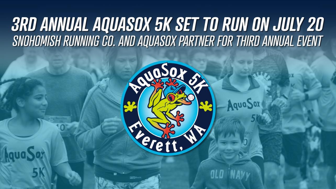 3rd Annual AquaSox 5K Set to Run on July 20